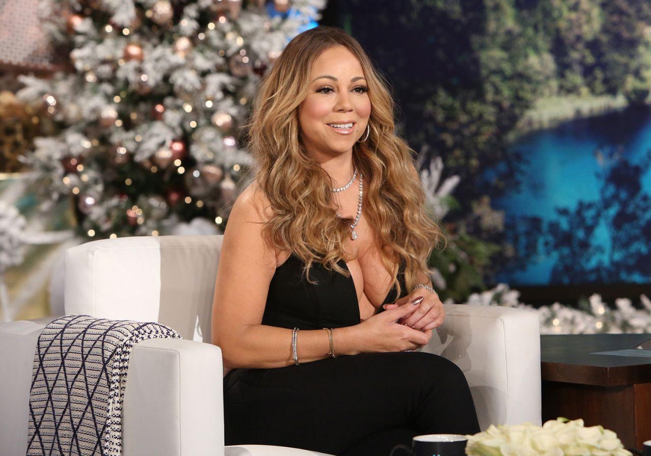 Mariah Carey - Reavaling Cleavage Caps From 'Ellen' 11/23 ... Mariah Carey