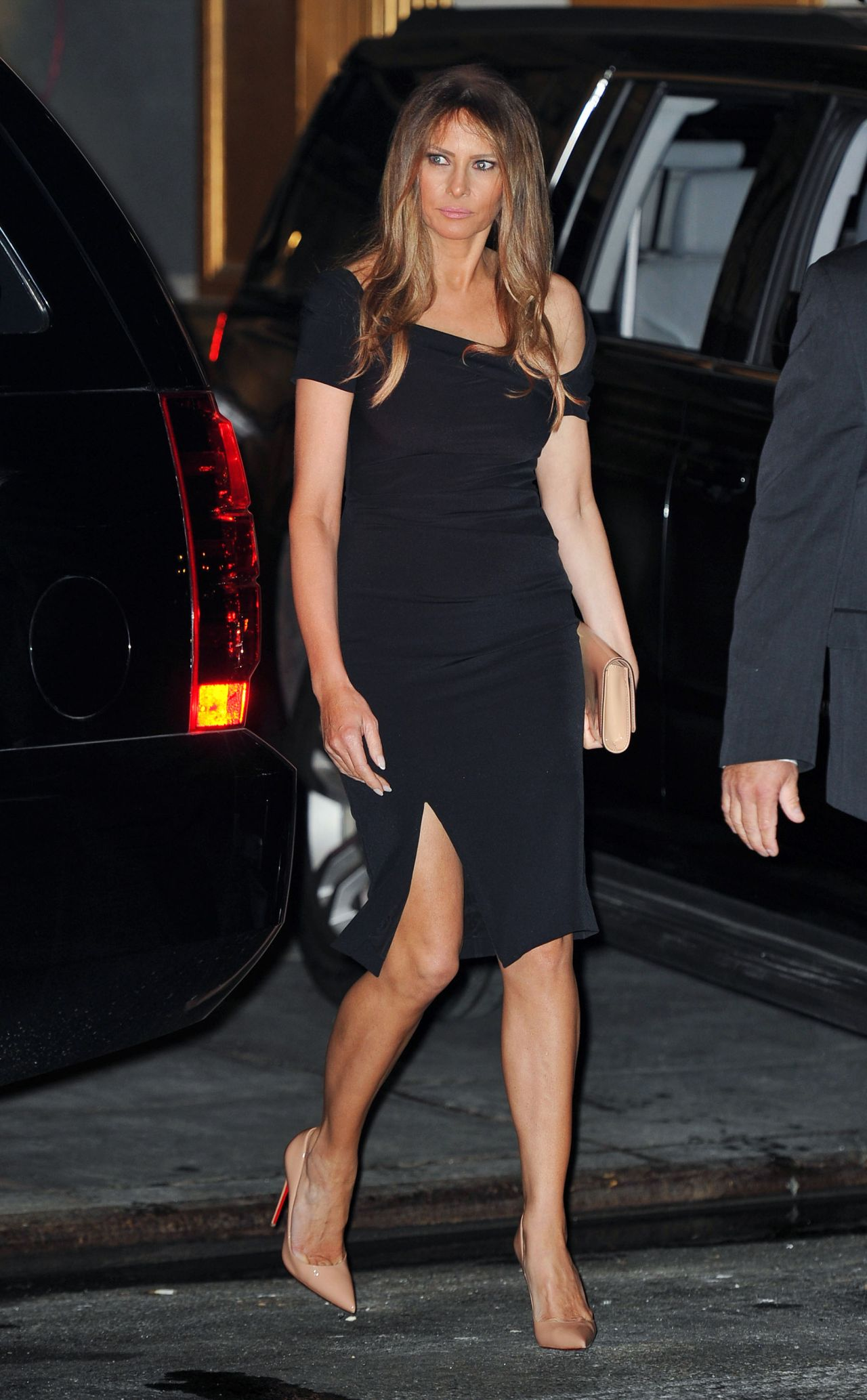 Melania Trump Departing Polo Club Restaurant In Nyc