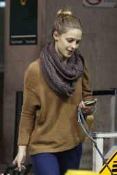 Melissa Benoist - Arriving at Vancouver Airport 11/27/ 2016