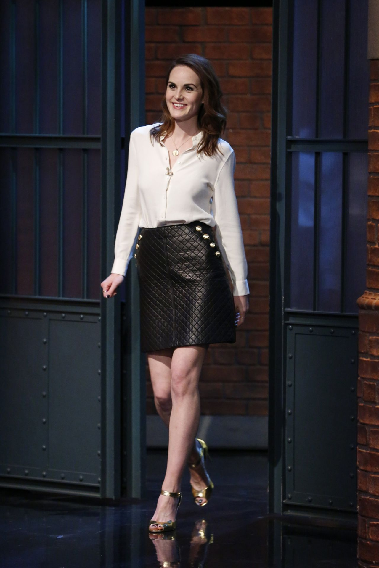 Michelle Dockery At The Late Show With Seth Meyers In Nyc
