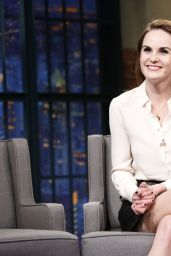 Michelle Dockery at The Late Show With Seth Meyers in NYC 11/14/ 2016