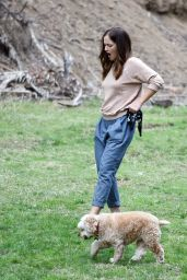 Minka Kelly at a Park in Los Angeles 11/1/ 2016