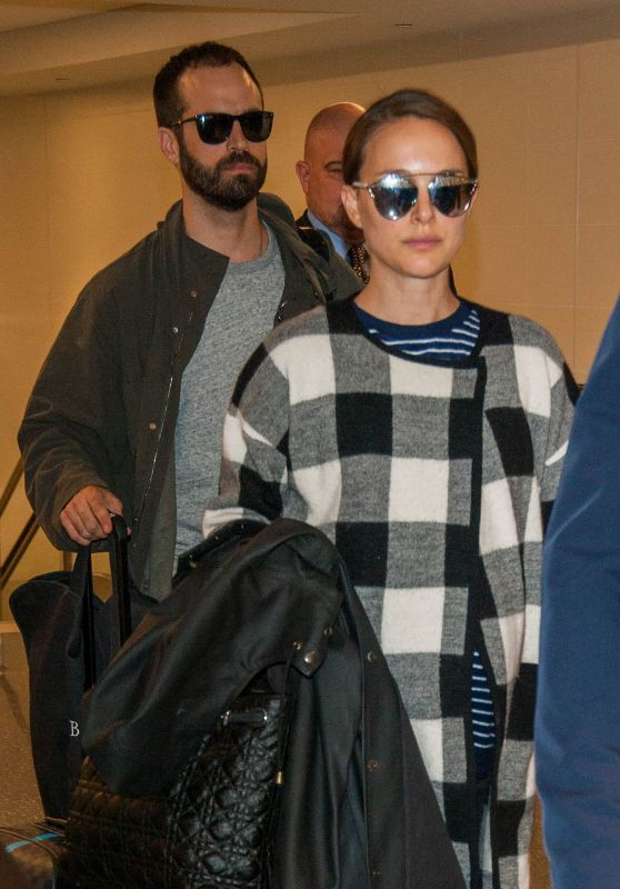 Natalie Portman With Her Husband at LAX Airport in LA 11/27/ 2016