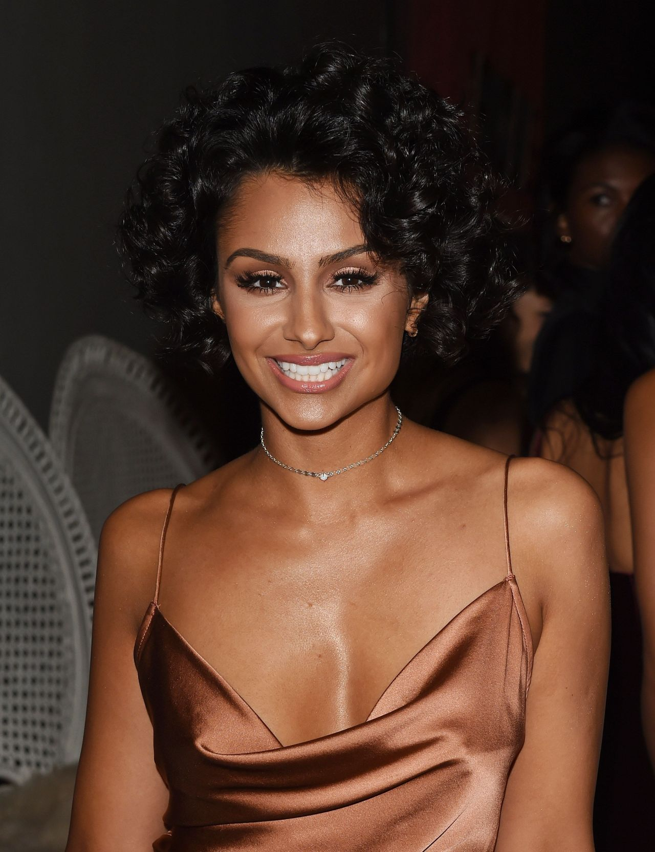 Nazanin Mandi Arrives To The Set Of Home Again In Los