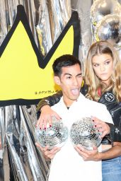 Nina Agdal – Alice + Olivia x Basquiat CFDA Capsule Collection Launch Party in NYC 11/2/ 2016