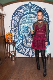 Nina Agdal - Tradicional Dia de los Muertos Party at The McKittrick Hotel in NYC 11/1/ 2016