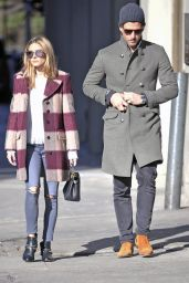 Olivia Palermo Autumn Style - In a Wool Coat While Out in New York 11/12/2016