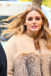 Olivia Palermo Wearing a Fur Coat - Out in NYC 11/28/ 2016