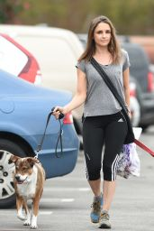 Rachael Leigh Cook - Walking Her Dogs in LA, October 2016