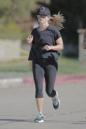 Reese Witherspoon - Out for a Jog in Brentwood 11/10/ 2016