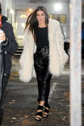 Sandra Bullock - Looking Fancy in Fur For