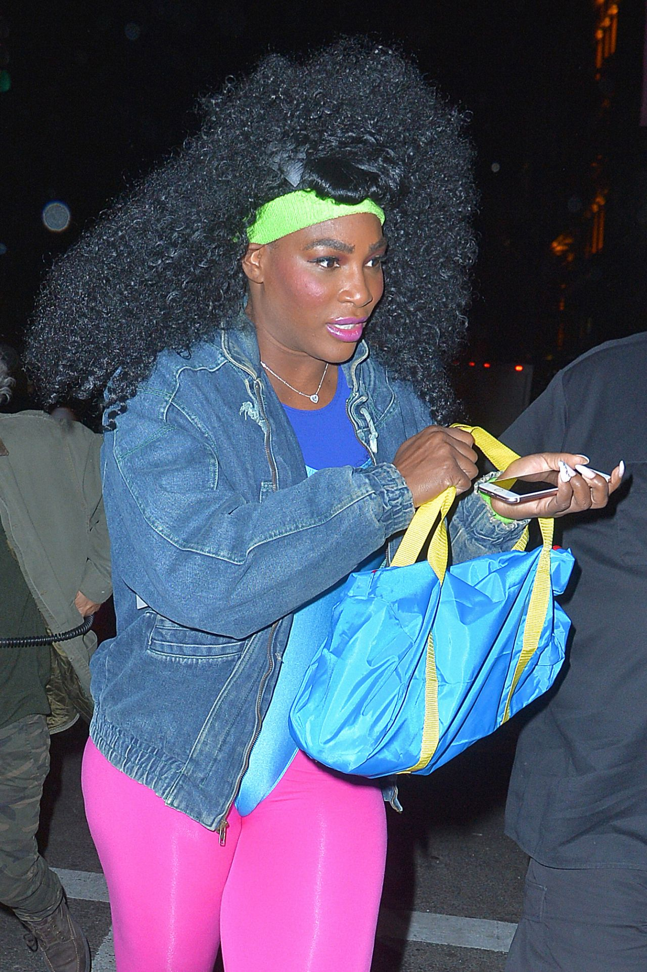 Serena Williams - Arriving at Heidi's Klum Halloween Party in New ...