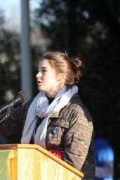 Shailene Woodley - March on Blocking The Dakota Access Pipeline, Washington, DC 11/27/ 2016