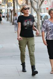 Sharon Stone - Enjoys a Walk in Beverly Hills 11/09/2016