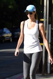 Stacy Keibler in Leggings - Beverly Hills 11/3/ 2016
