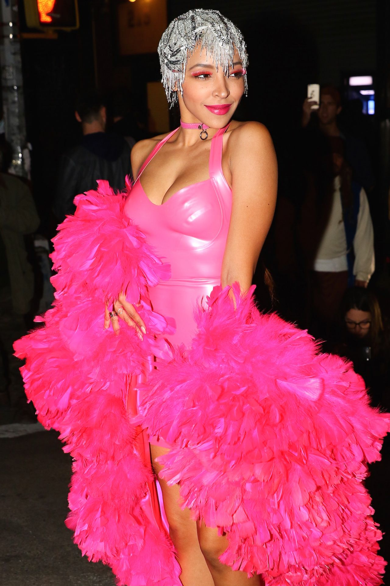 Tinashe - in Costume Outside Heidi Klum's 17th Annual Halloween ...
