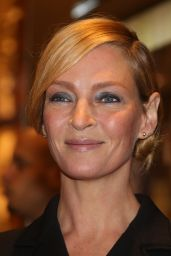 Uma Thurman at Printemps Haussmann Store Opening in Paris 11/3/ 2016