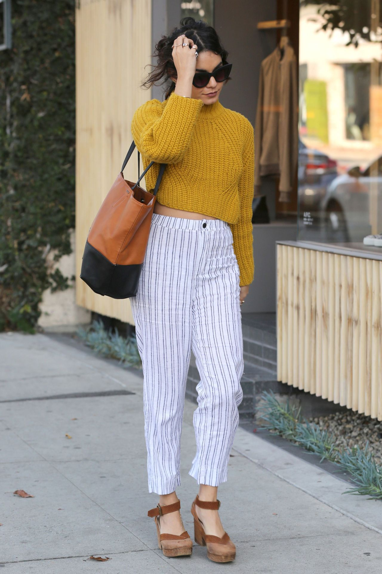 vanessa hudgens casual style kate somerville in west