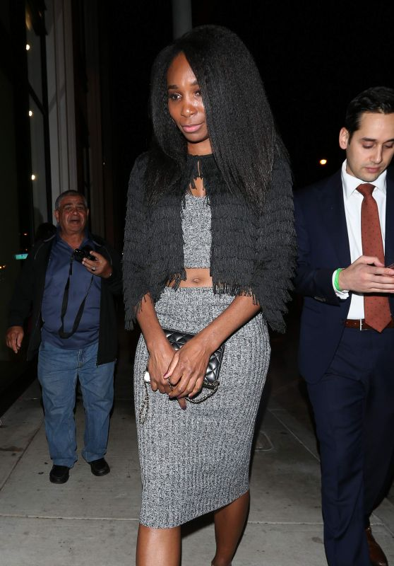 Venus Williams - Dines at Catch Restaurant in West Hollywood, November 2016