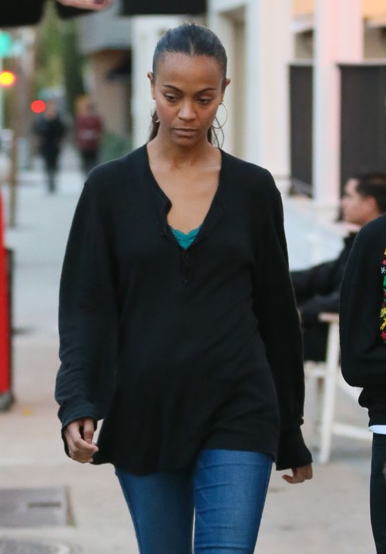 Zoe Saldana - Out in West Hollywood 11/25/ 2016