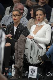 Adriana Lima at Brooklyn Nets vs Los Angeles Lakers at Barclays Center in NY 12/14/ 2016
