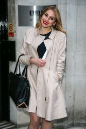 Alana Spencer at the BBC Radio Two Studios in London 12/19/ 2016