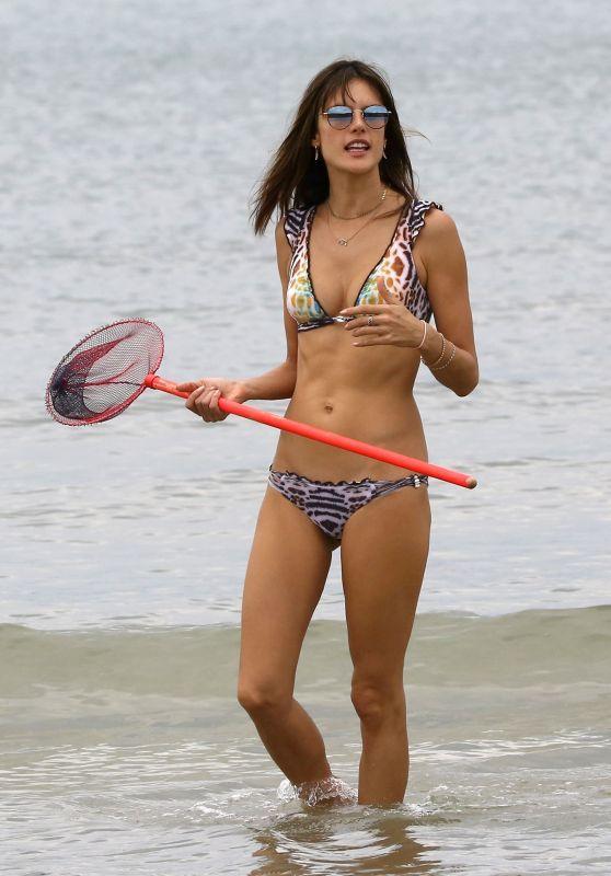 Alessandra Ambrosio - Beach Bikini Fun in Brazil 12/21/ 2016