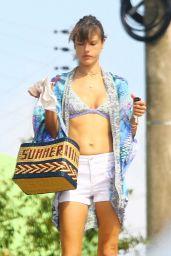 Alessandra Ambrosio in a Bikini Top in Florianopoli, Brazil 12/27/ 2016