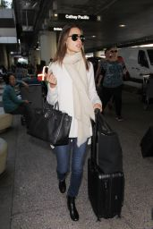 Alessandra Ambrosio Travel Outfit - LAX Airport in Los Angeles 12/04/ 2016