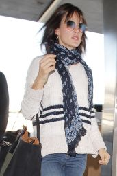 Alessandra Ambrosio Travel Style - Arrives at the Los Angeles International Airport 12/17/ 2016