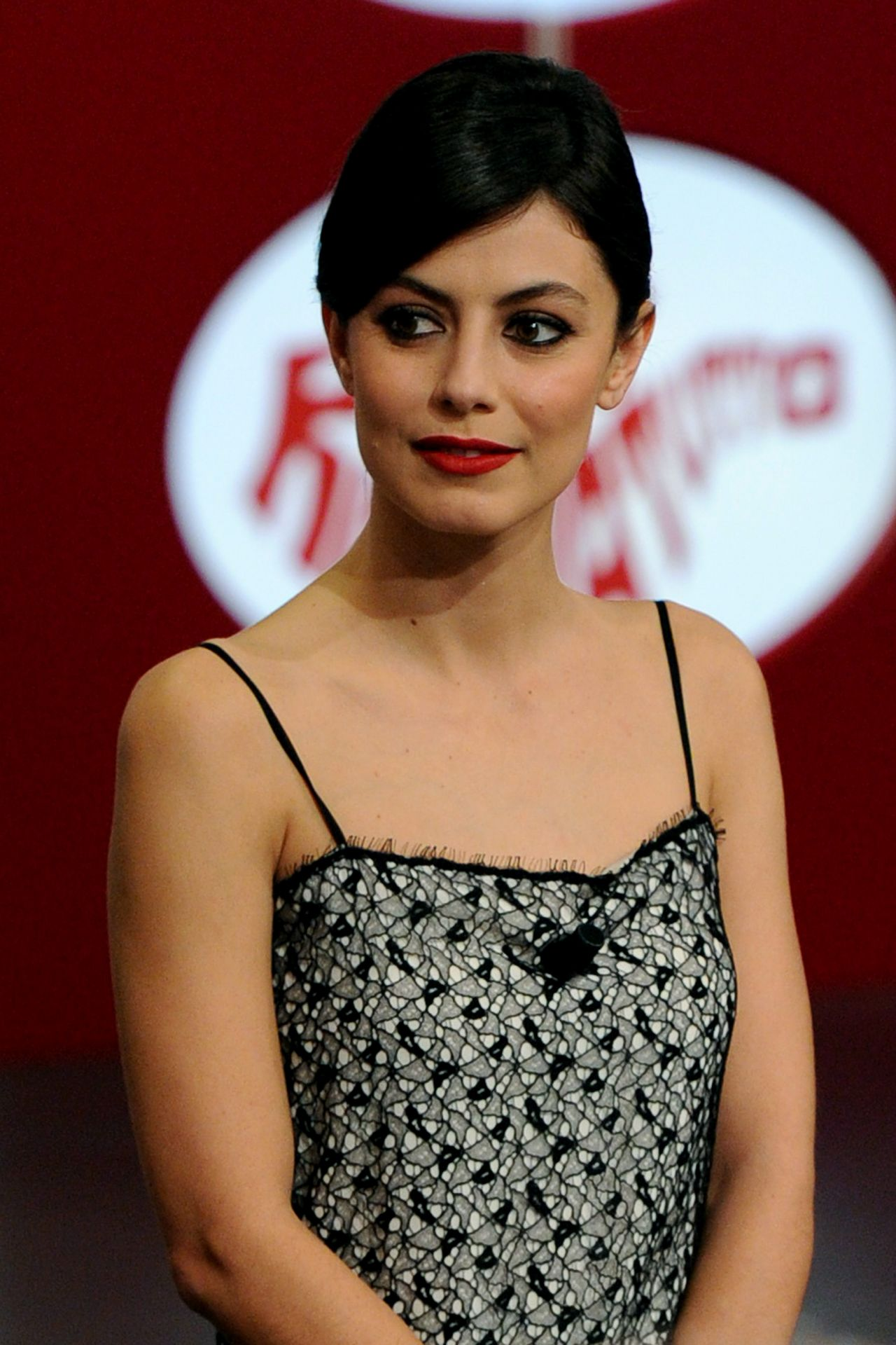 Alessandra Mastronardi  Italian TV Show Rischiatutto in - Hairstyles For Christmas Party
