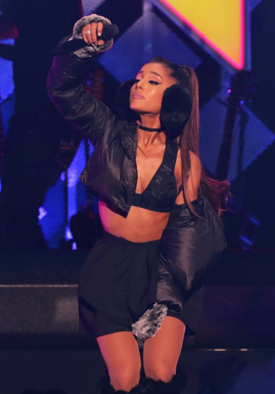 Ariana Grande Performs at Z100's iHeartRadio Jingle Ball in NYC 12/9/ 2016