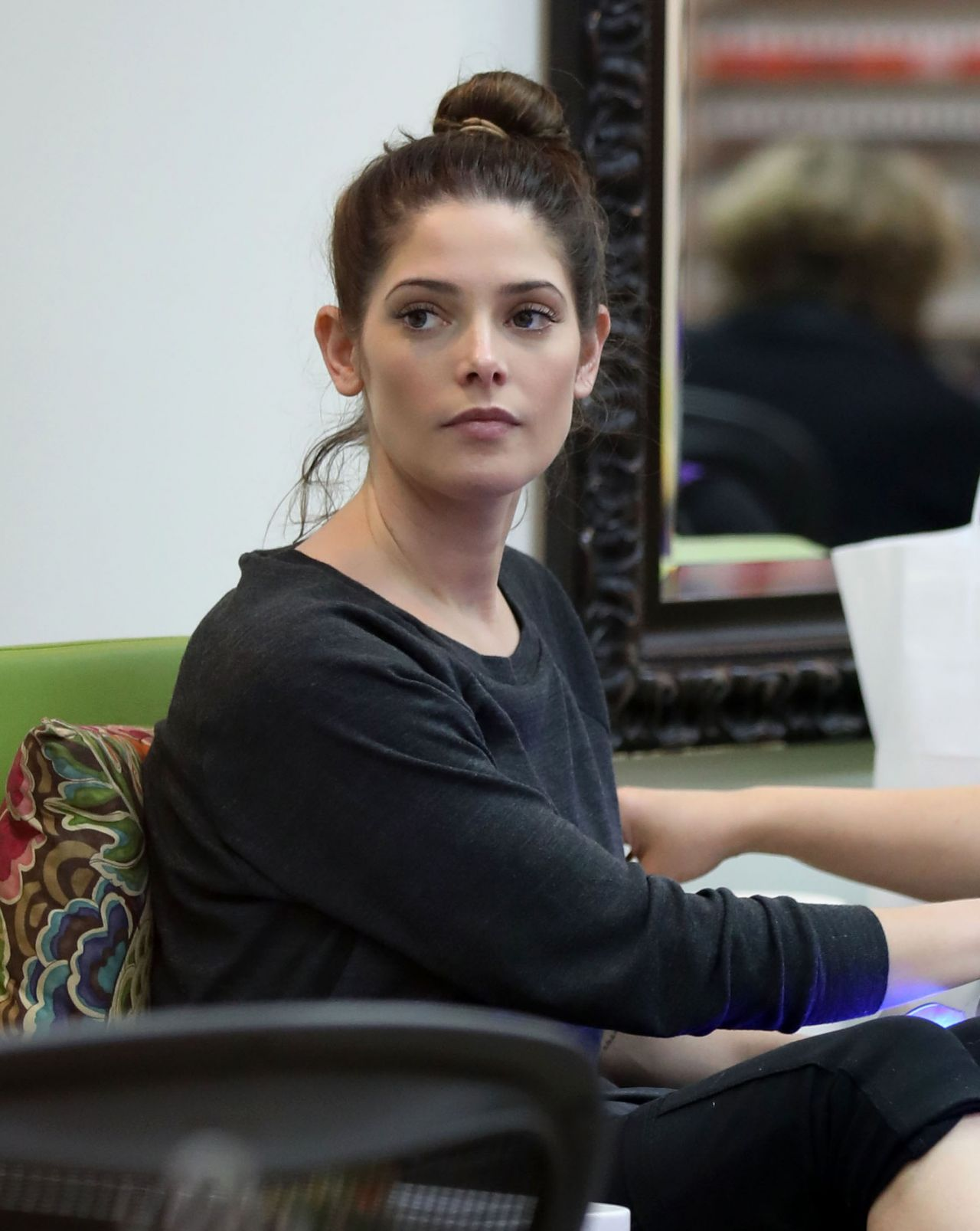 Ashley Greene Stops By A Nail Salon To Get Her Nails