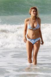 Ashley James in Bikini on the Beach in Dubai, December 2016