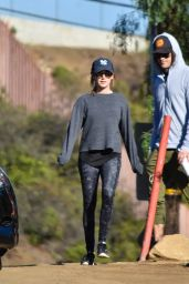 Ashley Tisdale in Tights - Hiking in LA, December 2016