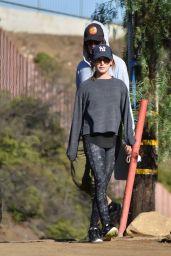 Ashley Tisdale in Tights - Hiking in LA, December 2016