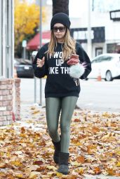 Ashley Tisdale - Leaving Pilates Class in Los Angeles 12/17/ 2016