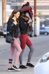 Bella Thorne in Tights - Leaving a Gym in LA 12/6/ 2016
