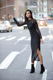 Chanel Iman - Leaving the Roxy Hotel in Tribeca, December 2016