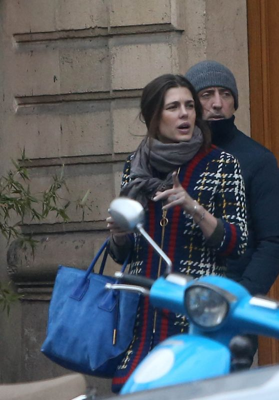 Charlotte Casiraghi - Meets Secretly Her Ex Gad Elmaleh in Paris, December 2016