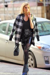 Charlotte McKinney Chic Street Style - New York City 12/15/ 2016