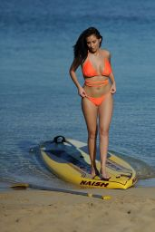 Chloe Goodman in a Bikini - Paddleboarding in Mexico 12/25/ 2016