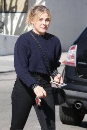 Chloe Moretz - Fills Up Her SUV Before Stopping by a Hair Salon in Hollywood 12/2/ 2016