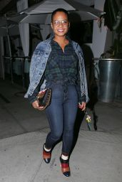 Christina Milian at Villa Blanca in Beverly Hills 11/30/ 2016