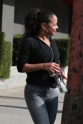 Christina Milian Street Style - Out for a Few Errands in Los Angeles 12/1/ 2016