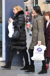 Christine Bleakley With Her Mother Mina on the Fulham Road, Chelsea 12/27/ 2016