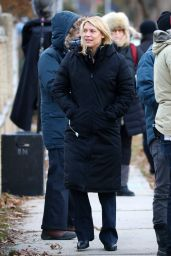 Claire Danes - Filming