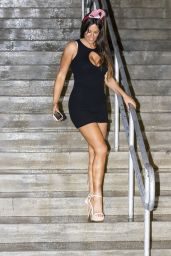 Claudia Romani Celebrates the Holidays Leaving American Airlines Arena in Miami 12/28/ 2016