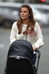 Coleen Rooney With Son Kai - Old Trafford stadium in Manchester 12/11/ 2016