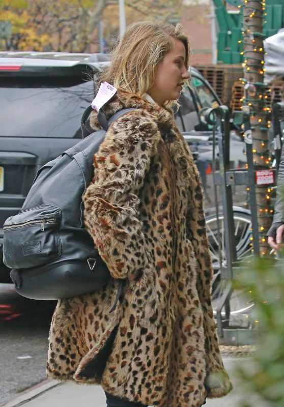 Dianna Agron at Her Hotel in NYC 12/5/ 2016
